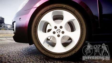 Volkswagen Golf Mk6 GTI rims1 для GTA 4 вид сзади