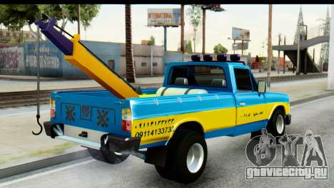 Nissan Junior 1982 Pickup Towtruck для GTA San Andreas вид слева