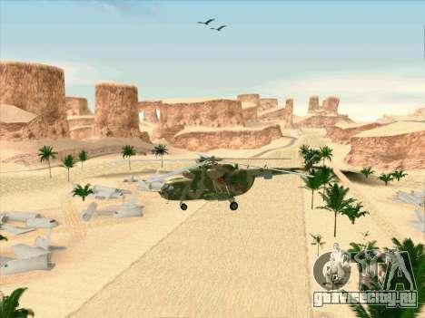 Ми-8 для GTA San Andreas вид изнутри