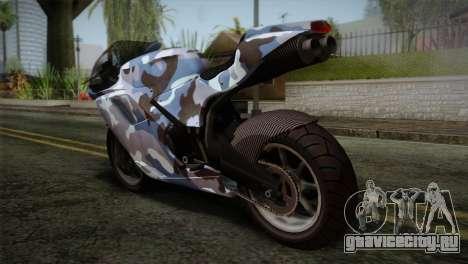 GTA 5 Bati Blue для GTA San Andreas вид слева