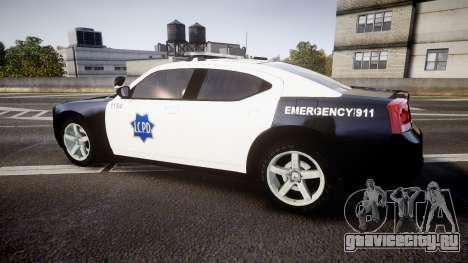 Dodge Charger 2010 LCPD [ELS] для GTA 4 вид слева