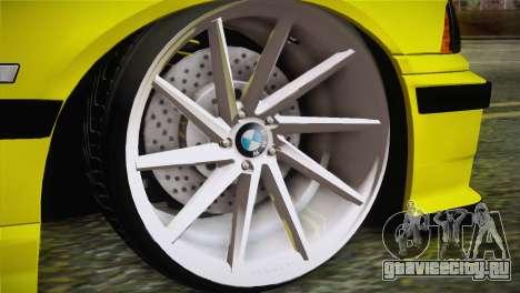 BMW M3 E36 DRY Garage для GTA San Andreas вид сзади слева