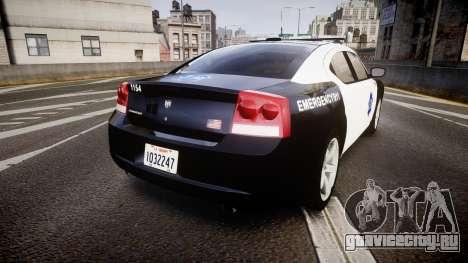 Dodge Charger 2010 LCPD [ELS] для GTA 4 вид сзади слева