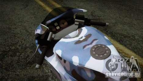 GTA 5 Bati Blue для GTA San Andreas вид справа