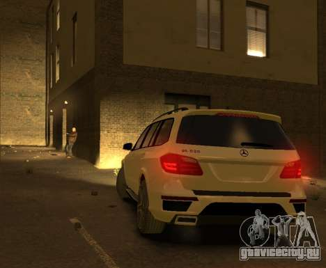 Mercedes-Benz GL500 2014 для GTA 4 вид справа
