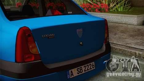 Dacia Logan 2006 для GTA San Andreas вид справа