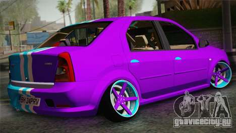 Dacia Logan Purple-Blue для GTA San Andreas вид слева