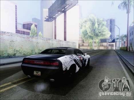 Dodge Challenger SRT8 Hemi Drag Tuning для GTA San Andreas вид сзади слева