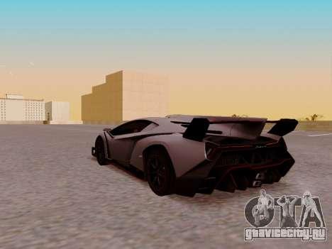 Lamborghini Veneno для GTA San Andreas вид сзади