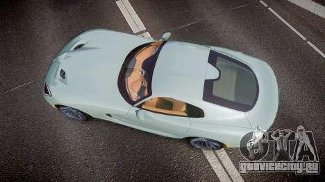 Dodge Viper SRT 2013 rims3 для GTA 4 вид справа
