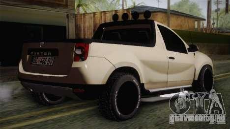 Dacia Duster Pickup 2014 для GTA San Andreas вид слева