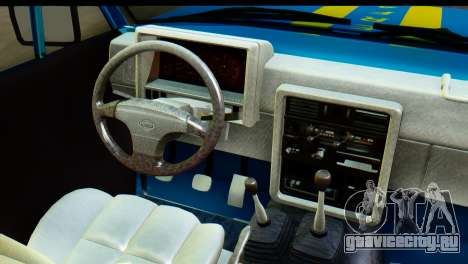 Nissan Junior 1982 Pickup Towtruck для GTA San Andreas вид изнутри