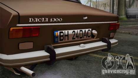 Dacia 1300 Biharia для GTA San Andreas вид сзади