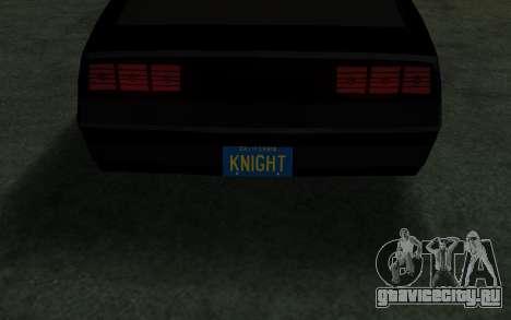 K.i.T.T. 2000 для GTA San Andreas вид справа