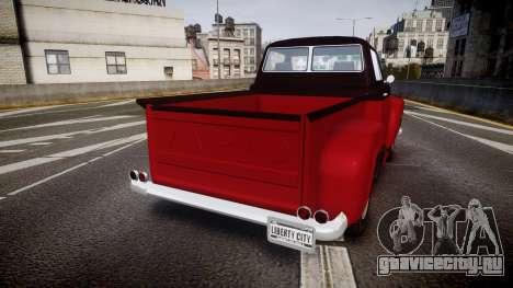 GTA V Vapid Slamvan для GTA 4 вид сзади слева