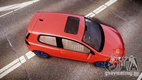 Volkswagen Golf Mk6 GTI rims3 для GTA 4 вид справа