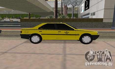Peugeot 405 Roa Taxi для GTA San Andreas вид сзади слева