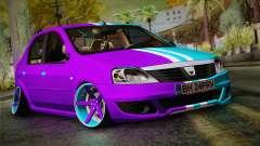Dacia Logan Purple-Blue для GTA San Andreas