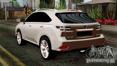 Lexus RX450H v2 для GTA San Andreas вид слева