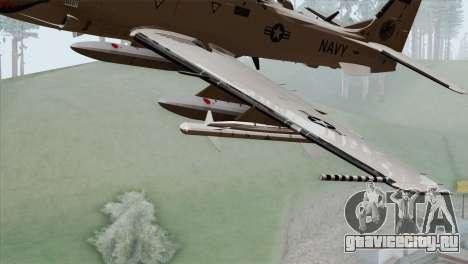 Embraer A-29B Super Tucano Navy White для GTA San Andreas вид справа