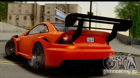 GTA 5 Benefactor Feltzer для GTA San Andreas вид слева