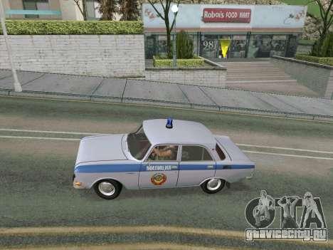 Москвич 2140 Милиция для GTA San Andreas вид справа