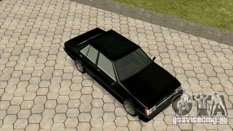 Mitsubishi Lancer EX 1800GSR Turbo Zenki для GTA San Andreas вид изнутри