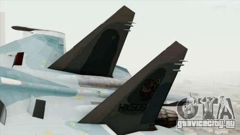 Sukhoi SU-27 PMC Reaper Squadron для GTA San Andreas вид сзади слева