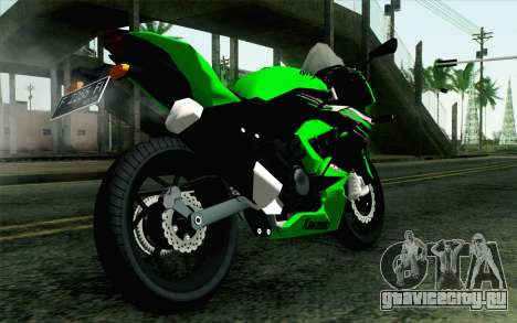 Kawasaki Ninja 250RR Mono Green для GTA San Andreas вид слева