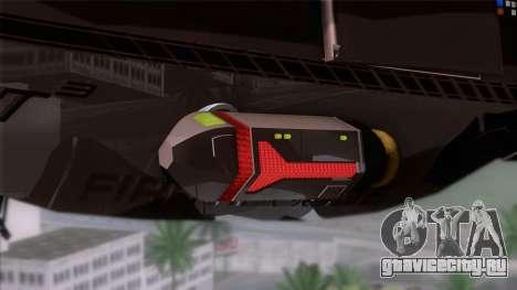 Shuttle v1 (wheels) для GTA San Andreas вид сзади слева