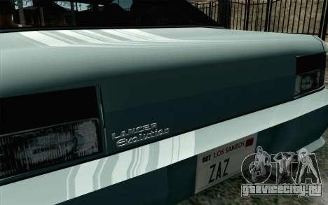 Sultan Lan Evo для GTA San Andreas вид сзади слева