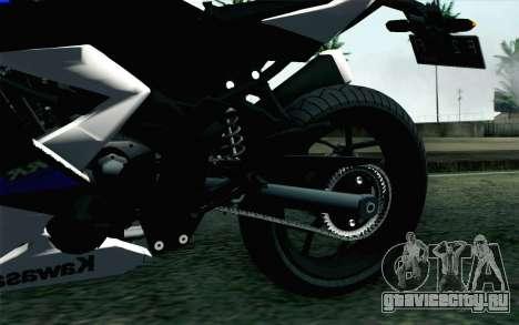 Kawasaki Ninja 250RR Mono White для GTA San Andreas вид сзади слева