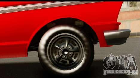 GTA 5 Vapid Blade v2 IVF для GTA San Andreas вид сзади