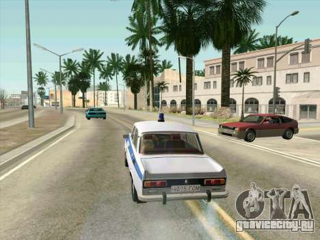 Москвич 2140 Милиция для GTA San Andreas вид изнутри