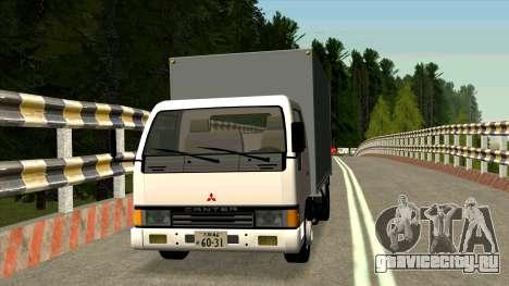Mitsubishi Fuso Canter 1989 Aluminium Van для GTA San Andreas вид слева