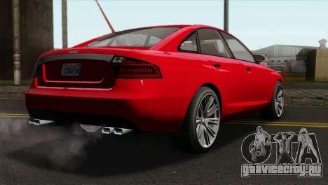 GTA 5 Obey Tailgater для GTA San Andreas вид слева