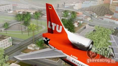 Lookheed L-1011 LTU Intl для GTA San Andreas вид сзади слева