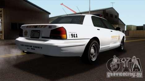 GTA 5 Vapid Stanier Sheriff SA Style для GTA San Andreas вид слева