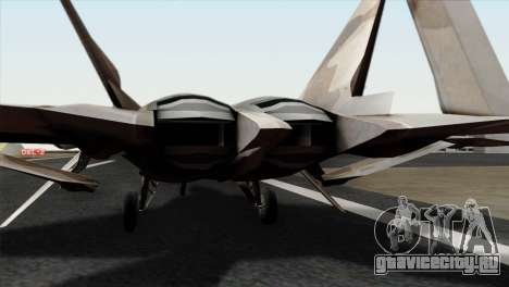 F-22 Raptor 02 для GTA San Andreas вид сзади