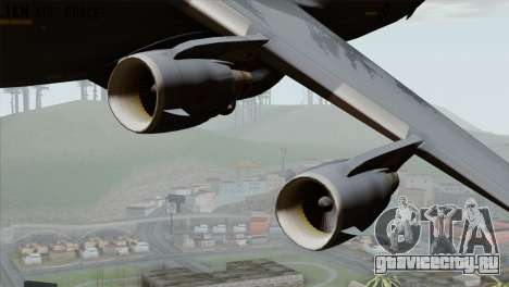 C-17A Globemaster III RAF для GTA San Andreas вид сзади