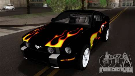 Ford Mustang GT Wheels 2 для GTA San Andreas вид сбоку
