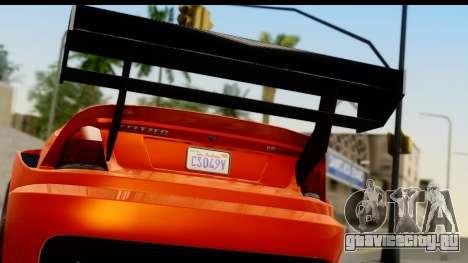 GTA 5 Benefactor Feltzer для GTA San Andreas вид справа