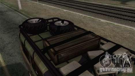 УАЗ 2206 Буханка для GTA San Andreas вид сзади