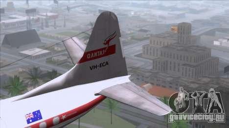 L-188 Electra Qantas для GTA San Andreas вид сзади слева