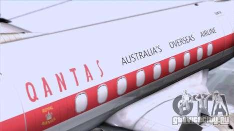 L-188 Electra Qantas для GTA San Andreas вид сзади