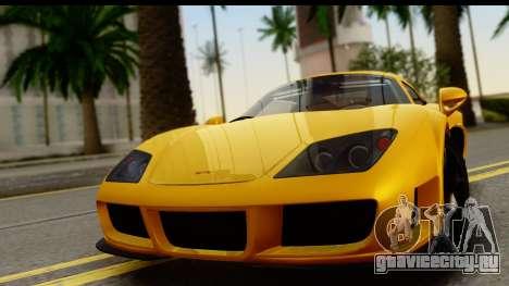 Noble M600 2010 HQLM для GTA San Andreas вид сзади слева