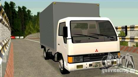 Mitsubishi Fuso Canter 1989 Aluminium Van для GTA San Andreas вид сзади