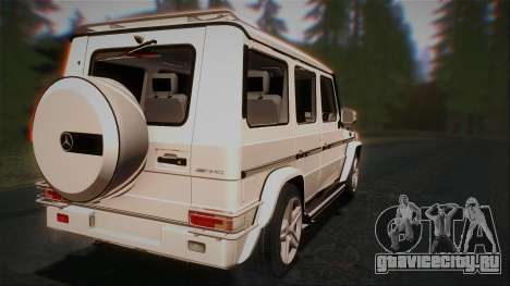Mercedes-Benz G65 2013 AMG Body для GTA San Andreas вид справа