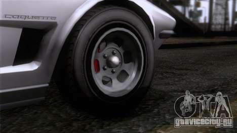 GTA 5 Invetero Coquette Classic TL SA Mobile для GTA San Andreas вид сзади слева