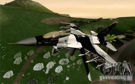 F-16C Fighting Falcon Aggressor Alaska BlackGrey для GTA San Andreas